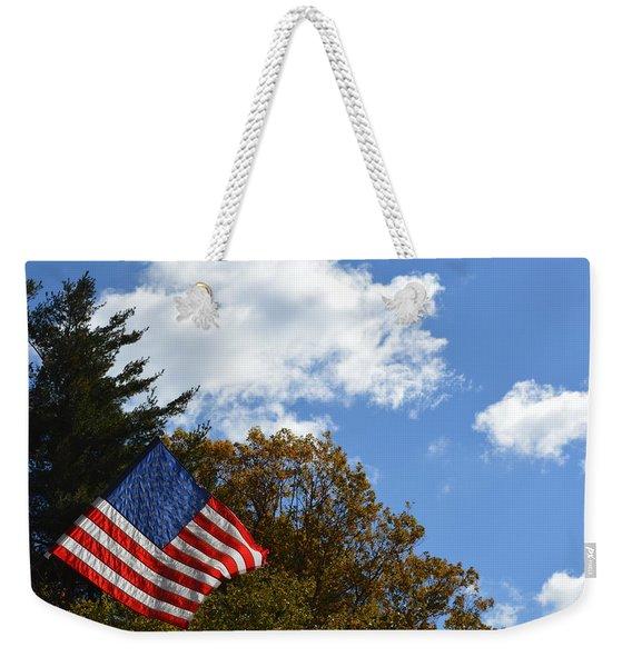 Fall Flag Weekender Tote Bag