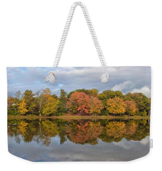 Fall Foliage Symmetry Weekender Tote Bag