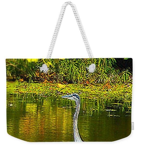 Fall Heron Weekender Tote Bag