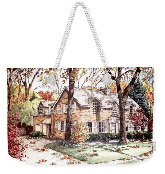 Fall Home Portriat Weekender Tote Bag