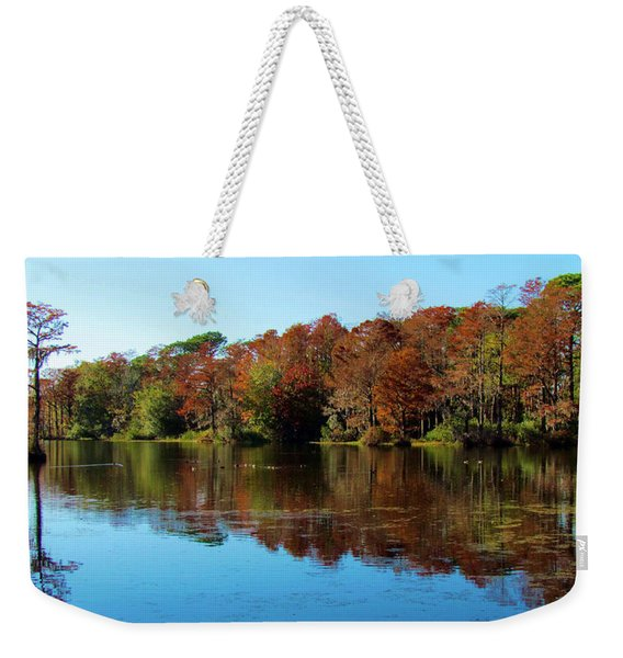Fall In The Air Weekender Tote Bag
