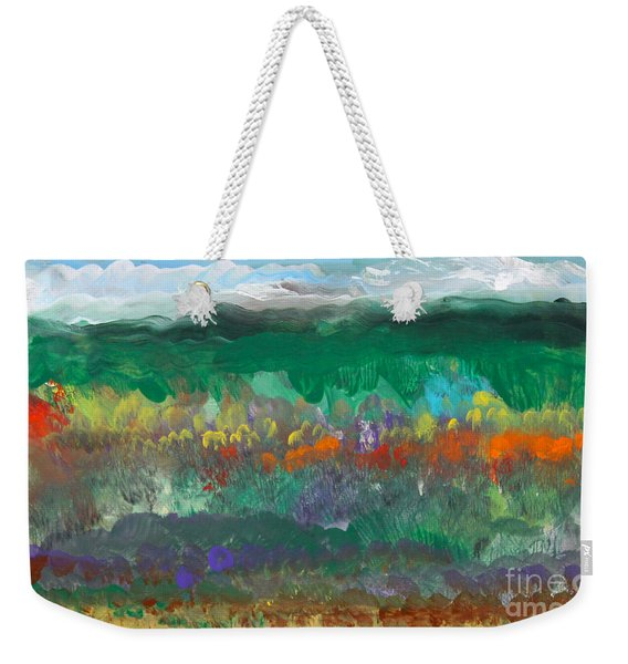 Fall Landscape Abstract Weekender Tote Bag