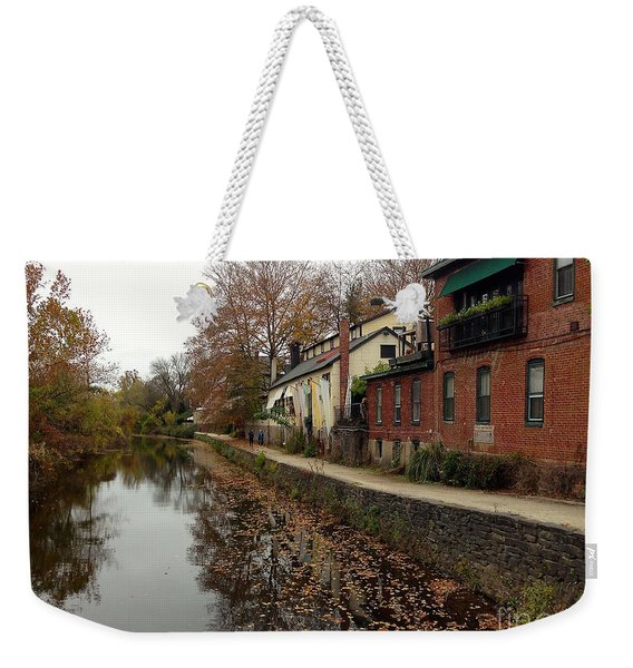 Fall On The Canal Weekender Tote Bag