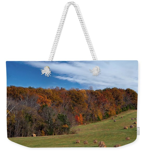 Weekender Tote Bag featuring the photograph Fall On The Farm by Jemmy Archer