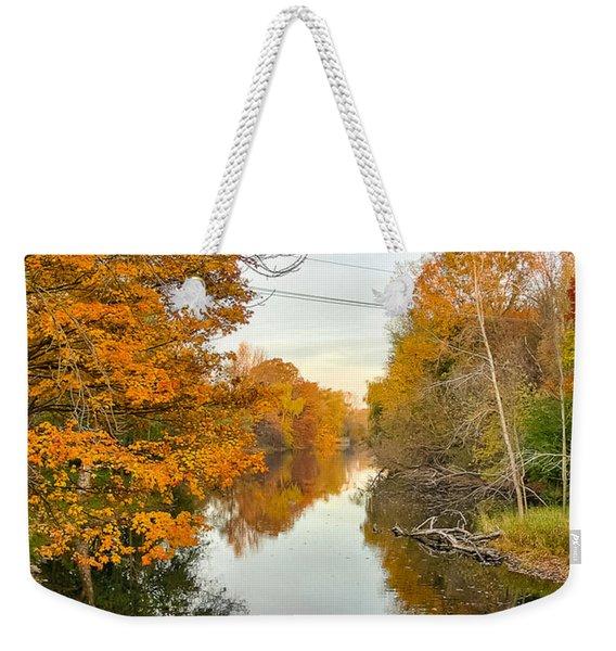 Fall On The Red Cedar  Weekender Tote Bag