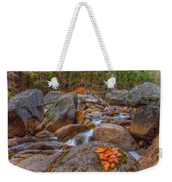 Fall On The Rocks Weekender Tote Bag