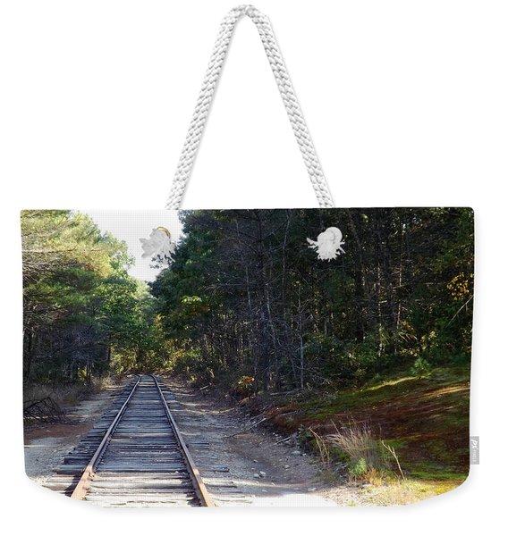 Fall Railroad Track To Somewhere Weekender Tote Bag