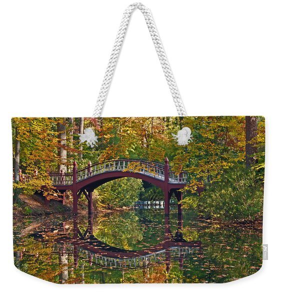 Fall Reflections At Crim Dell Weekender Tote Bag