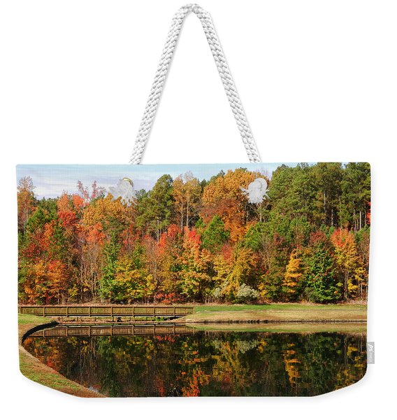Fall Reflections Three Weekender Tote Bag