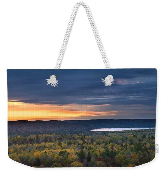 Fall Sunset In Wilderness Weekender Tote Bag