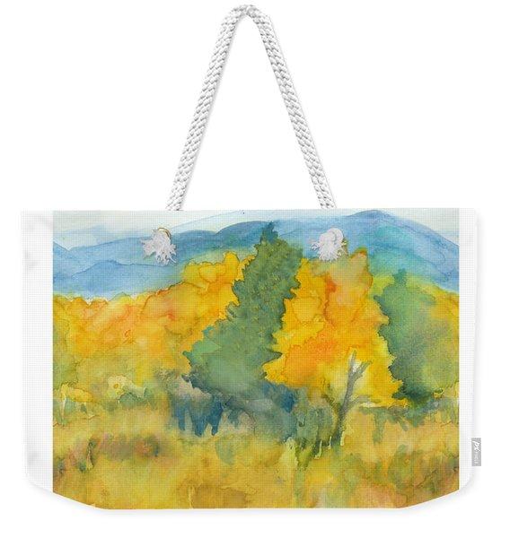 Fall Trees Weekender Tote Bag