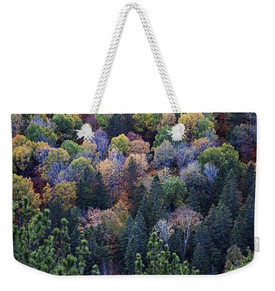 Fall Treetops At Lookout Weekender Tote Bag