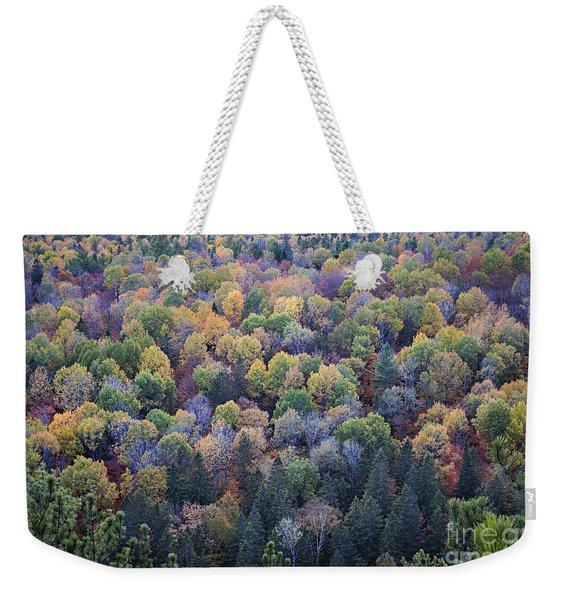 Fall Treetops Weekender Tote Bag