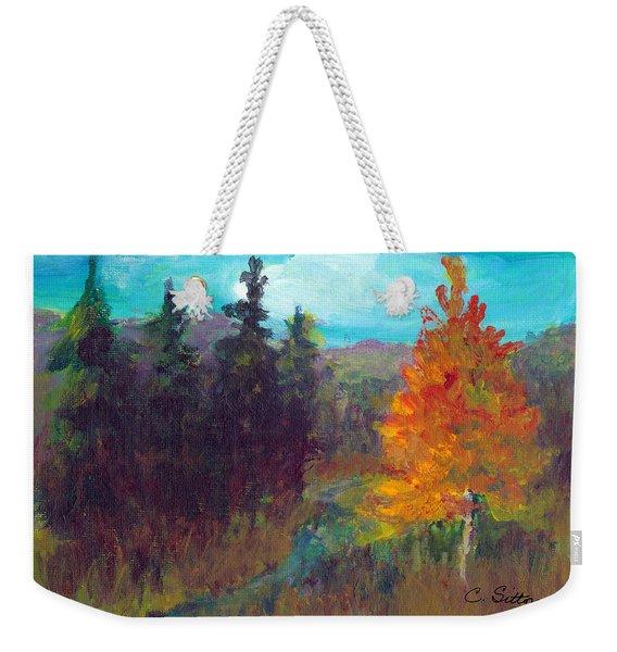 Fall View Weekender Tote Bag