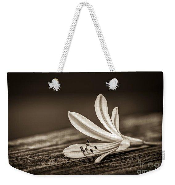 Fallen Beauty- Sepia Weekender Tote Bag