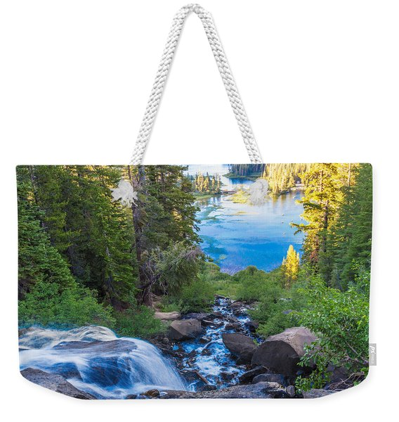 Falling Down To The Lakes Weekender Tote Bag