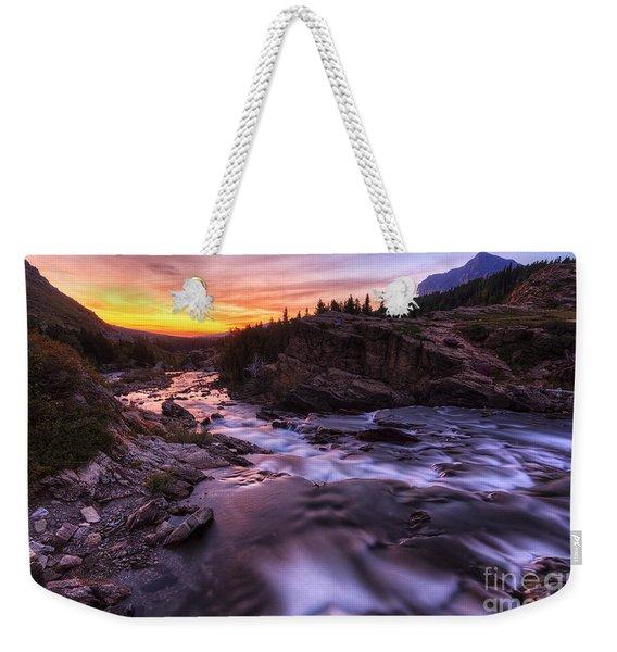 Falls At First Light Weekender Tote Bag