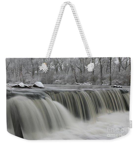 Falls In Winter Weekender Tote Bag