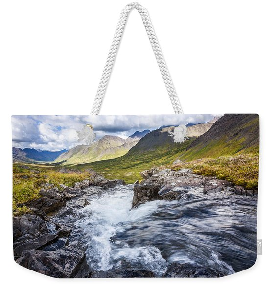 Weekender Tote Bag featuring the photograph Falls With A View by Tim Newton