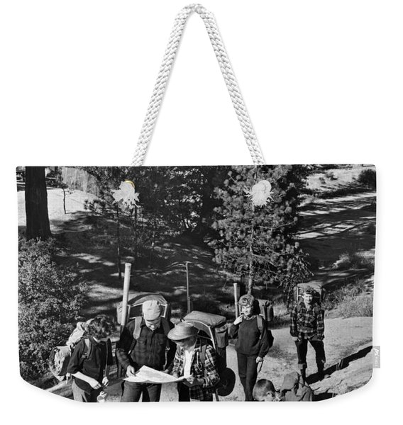 Family Backpacking Trip Weekender Tote Bag