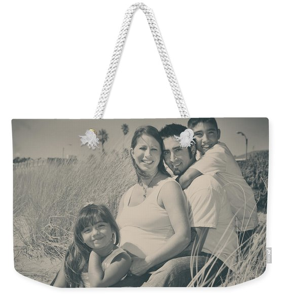 Family Beach Day Weekender Tote Bag