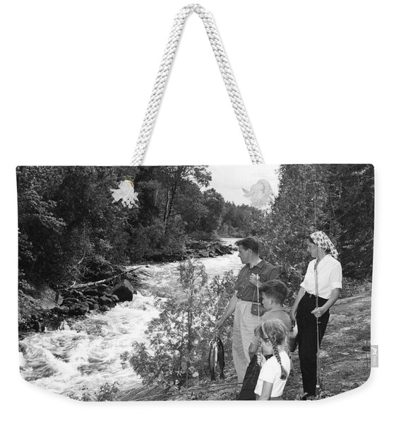 Family Trout Fishing Weekender Tote Bag