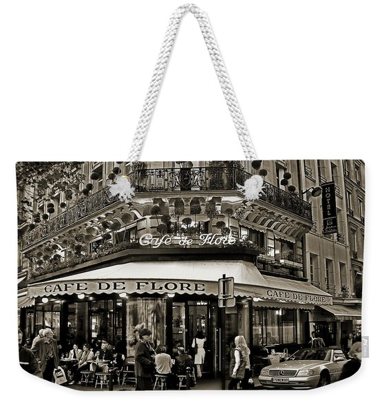 Famous Cafe De Flore - Paris Weekender Tote Bag
