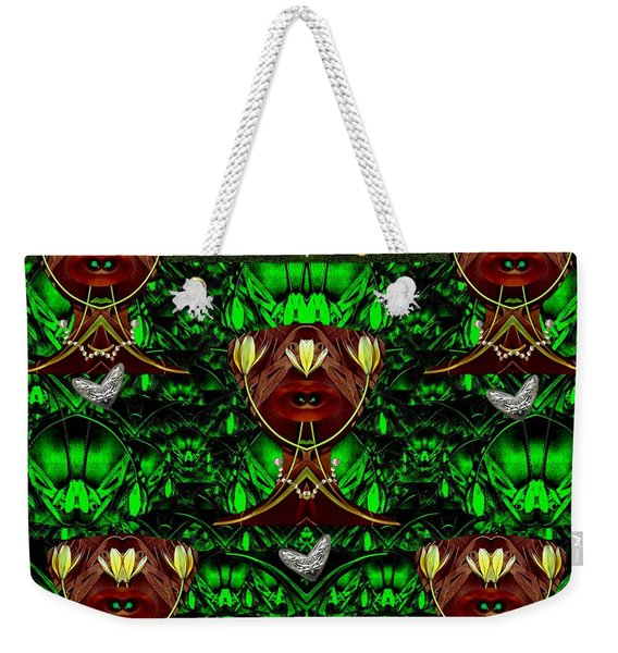Fantasy Leather Heads In A Scenery Weekender Tote Bag