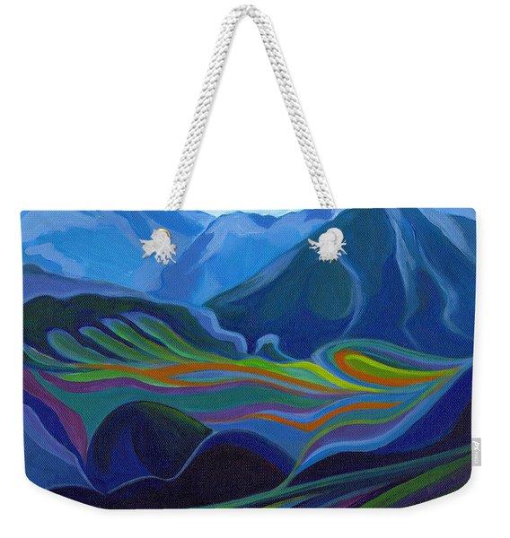 Faraway Mountains Weekender Tote Bag