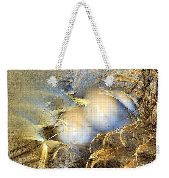 Far From The Treacherous World - Abstract Art Weekender Tote Bag