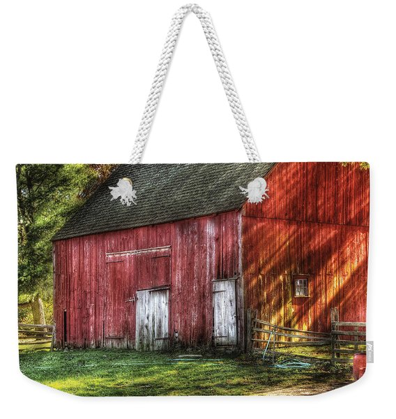 Farm - Barn - The Old Red Barn Weekender Tote Bag
