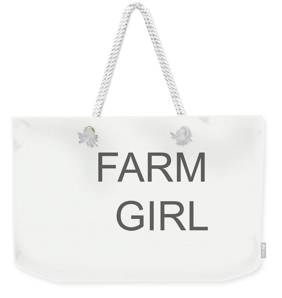 Farm Girl Weekender Tote Bag