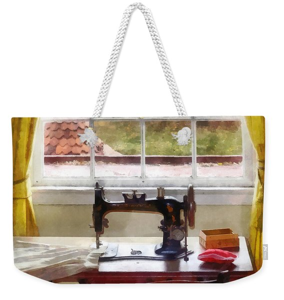 Farm House With Sewing Machine Weekender Tote Bag