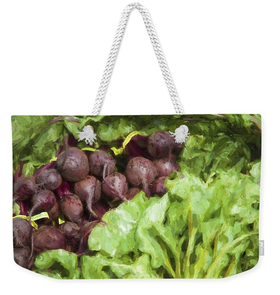 Farmers Market Beets And Greens Weekender Tote Bag