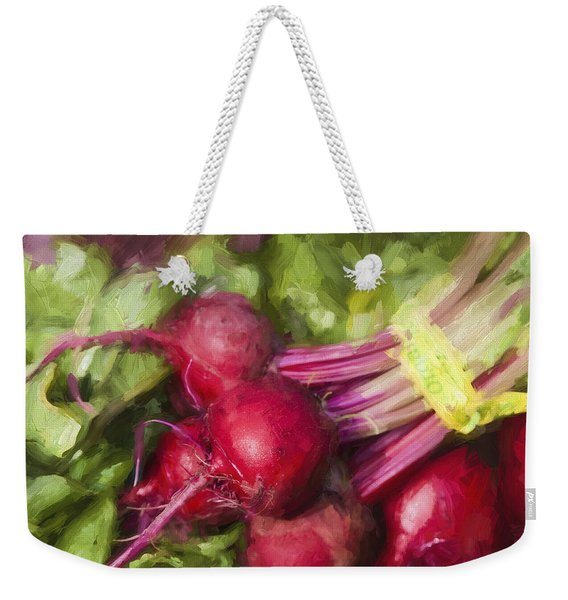 Farmers Market Beets Square Format Weekender Tote Bag