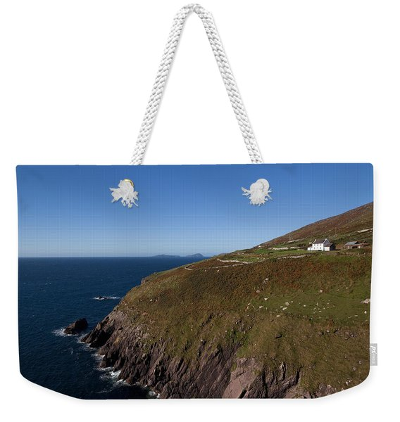 Farmhouse And Distant Blasket Islands Weekender Tote Bag