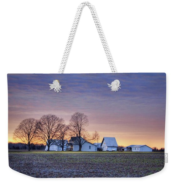 Farmstead At Sunset Weekender Tote Bag