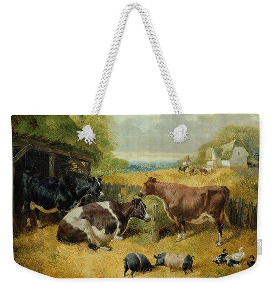 Farmyard Scene Weekender Tote Bag