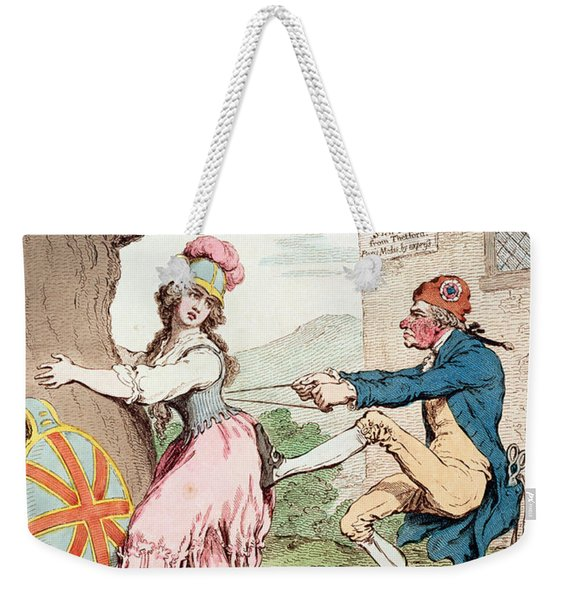 Fashion Before Ease, Or A Good Constitution Sacrificed For A Fantastic Form, Pub. By Hannah Weekender Tote Bag