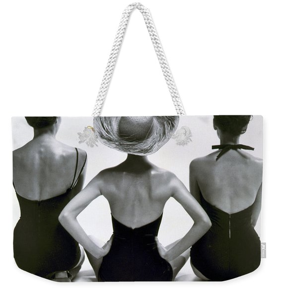Fashion Models In Swim Suits, 1950 Weekender Tote Bag