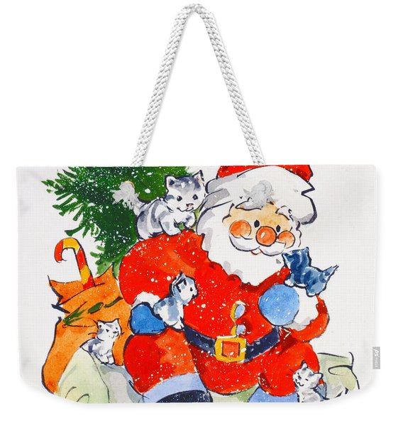 Father Christmas And Kittens, 1996  Weekender Tote Bag