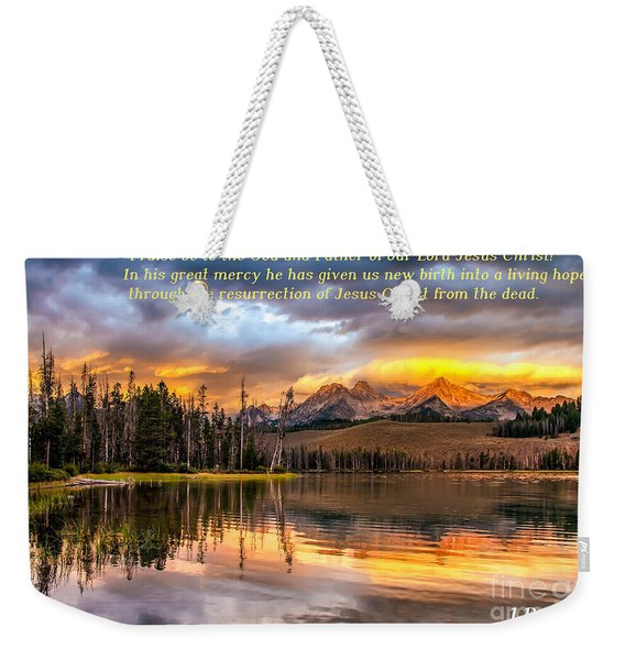 Favorite Easter Verse Weekender Tote Bag