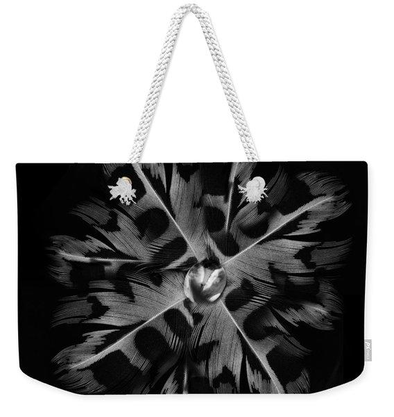 Feather Flower Weekender Tote Bag