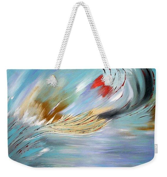 Feathered Stream Weekender Tote Bag
