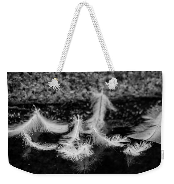 Angels Pass By - Monochrome Weekender Tote Bag