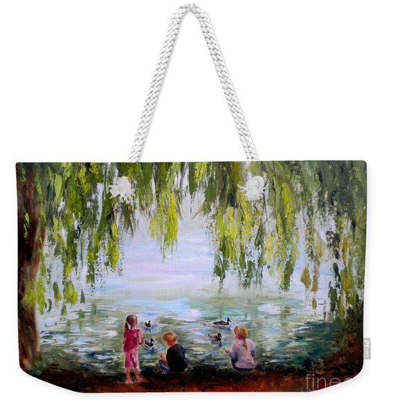 Feeding Ducks At Fort Dent Park Weekender Tote Bag