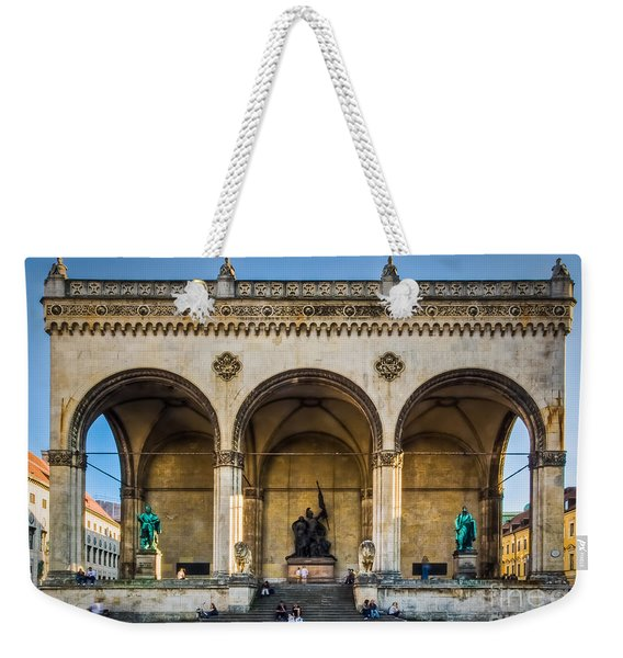 Weekender Tote Bag featuring the photograph Feldherrnhalle by John Wadleigh