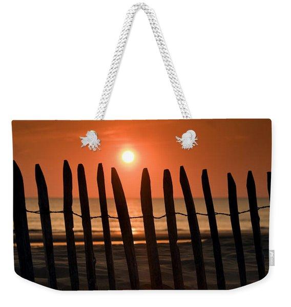 Fence At Sunset Weekender Tote Bag