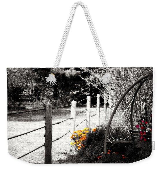 Fence Near The Garden Weekender Tote Bag