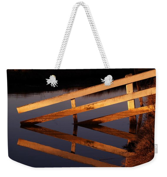 Fenced Reflection Weekender Tote Bag